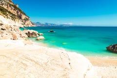 The beautiful Cala Goloritzè in Sardinia. The beautiful bay in the Gulf of Orosei, Sardinia royalty free stock photo
