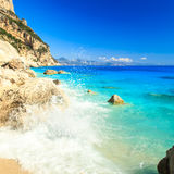 The beautiful Cala Goloritzè in Sardinia Stock Images