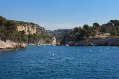 Beautiful calanques close to Cassis Stock Image