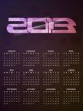 Beautiful calendar design for 2013. Vector illustration of beautiful calendar design for 2013 royalty free illustration