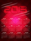Beautiful calendar design for 2013 Royalty Free Stock Image