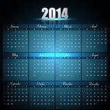 Beautiful Calendar for 2014 template Royalty Free Stock Photos
