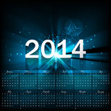 Beautiful Calendar 2014 template Stock Photography