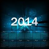 Beautiful Calendar 2014 template Stock Photography