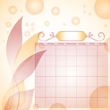 Beautiful calendar template with bubbles Stock Photo