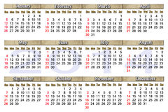 Beautiful calendar for 2014 year with nice strips Royalty Free Stock Photo