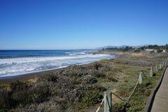 California Coastline a little south of San Francisco royalty free stock photos