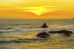 Beautiful California Sunset. Over Pacific Ocean stock image