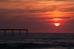 A beautiful California sunset over the Pacific ocean royalty free stock images