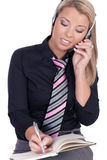 Beautiful call center agent Royalty Free Stock Photo