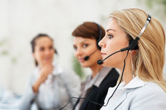 Beautiful call center employee Stock Photos
