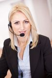 Beautiful call center operator Royalty Free Stock Image