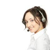 Beautiful Call Center Woman Stock Images