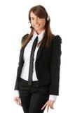 Beautiful Call Center Woman Stock Image