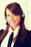 Beautiful Call Center Woman Stock Photos