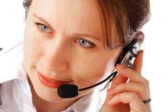 Beautiful call centre executive Stock Image