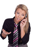 Beautiful call centre operator Royalty Free Stock Photos