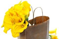 Beautiful calla lilies bouquet Royalty Free Stock Photos
