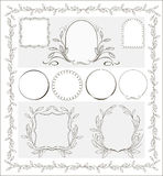 Beautiful  calligraphic decorative frames. Simple  beautiful calligraphic decorative frame for design Stock Photos
