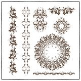 Beautiful calligraphic patterns Royalty Free Stock Images