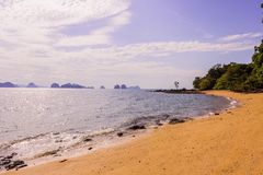 The beautiful and calm beach on shinty day, Yao Noi Islands, Phang Nga province, Thailand