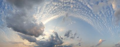 Beautiful cloudscape, white, dense clouds Royalty Free Stock Image