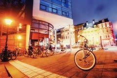 Beautiful calm night view of Amsterdam city Stock Photography