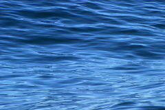 Beautiful calm ripples on deep blue ocean Royalty Free Stock Images