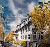 Beautiful calm street  in Strasbourg, infrared view Stock Photography