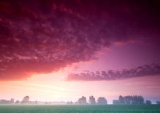 Beautiful and calm sunrise. Royalty Free Stock Images