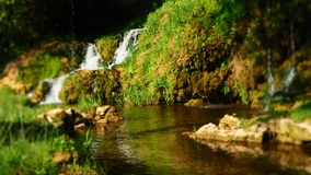 Beautiful Water Stream Scenery next to the Roski Waterfall at Krka National Park in Croatia. Beautiful and calm Water Stream Scenery next to the Roski Waterfall stock photography