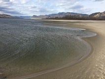 Beautiful calming Kamloops city beach. Beautiful Kamloops city beach Stock Images