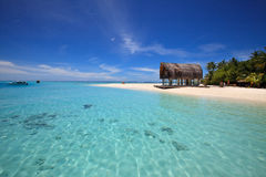 Beautiful calming tropical beach. Royalty Free Stock Images