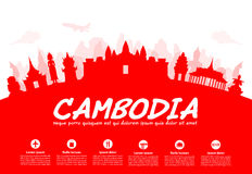 Beautiful Cambodia Travel Landmarks. Royalty Free Stock Photography