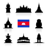 Beautiful Cambodia Travel Landmarks. Royalty Free Stock Photos