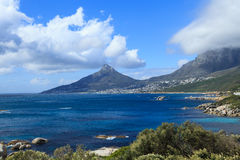 Beautiful Camps Bay Beach and Lion Head Mountain Stock Photos