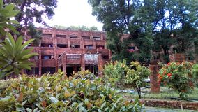 beautiful campus in university of chittagong royalty free stock photo