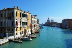 Venice. The beautiful Canal Grande (Big Canal) in Venice, Italy Stock Image
