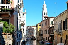 beautiful canal in Venice Royalty Free Stock Photo
