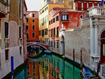 Beautiful canale of Venice Stock Images