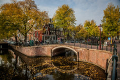 Beautiful canals in Amsterdam, the Netherlands Royalty Free Stock Image