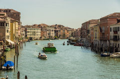 The Beautiful canals of Venice. Commerce and trade on the canals of Venice Stock Photo