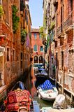 Beautiful canals of Venice stock photography