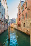 The Beautiful canals of Venice. A quiet canal less traveled in Venice Stock Photo
