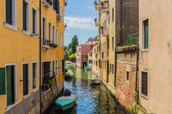 The Beautiful canals of Venice. A sunny day on  the canals of Venice Stock Photography