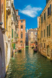 The Beautiful canals of Venice. A sunny day riding on  the canals of Venice Stock Image