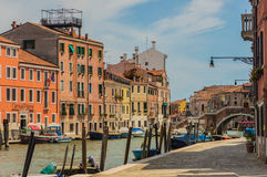 The Beautiful canals of Venice. A sunny day strolling by the canals of Venice Royalty Free Stock Images