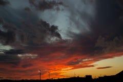 Beautiful canarian sunset Stock Images