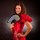 Beautiful cancan woman Stock Photo