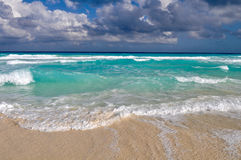 Beautiful Cancun Beach Stock Photography